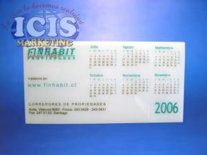 Calendario Acrilico