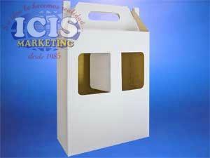 Caja   de Cartón para dos copas degustación de vinos.