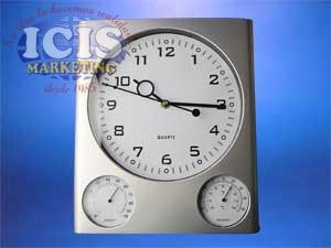 Reloj Mural Termómetro Higrómetro