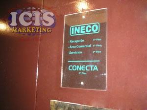 Placa Acrílico-Vidrio Señalética Corporativa