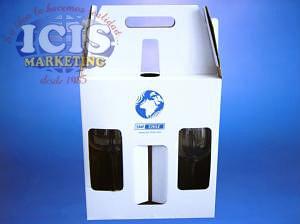 Caja de Cartón para 2 Copas y 1 Botella de Vino (Solo caja)