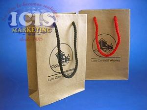 Bolsas de Papel Kraft ( 16 x 11.5 x 5 cms)