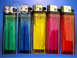 Encendedores de Colores Translúcidos