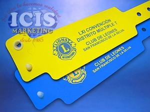 Pulseras de identificación PVC cierre inviolable.