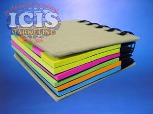 Libreta con papeles adhesivos 5 tonos