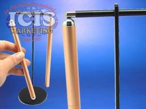 Bolígrafos colgantes color cobre