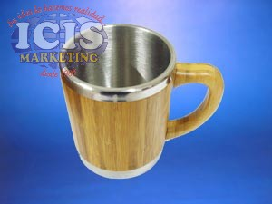 Mug con cubierta de bambú