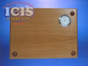 Galvano de escritorio media carta con reloj
