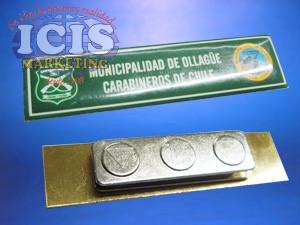 Pin o piocha metálica con resina y broche magnetico