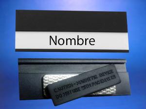 Piocha para insertar nombres con sujeción magnética