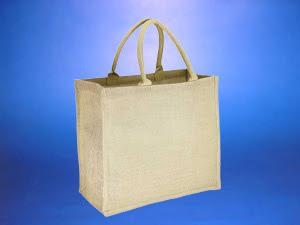 Bolsa YUTE,  39 x 36 x 15 cm aprox / Manillas de 40 x 1.5 cm app