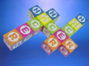Cubo Rubik Gigante 6,7 x 6,7 x 6,7 cms.