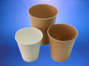Vasos de cortan reciclable y compostables