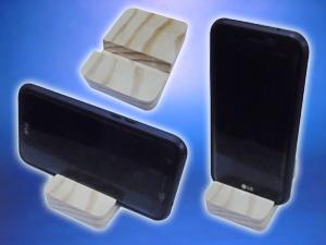 Porta celular de madera  para SmartPhone