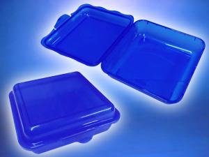 Envase plástico cuadrado para colaciones