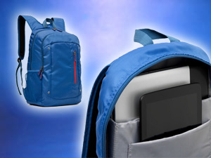 Mochila 23 litros notebook azul